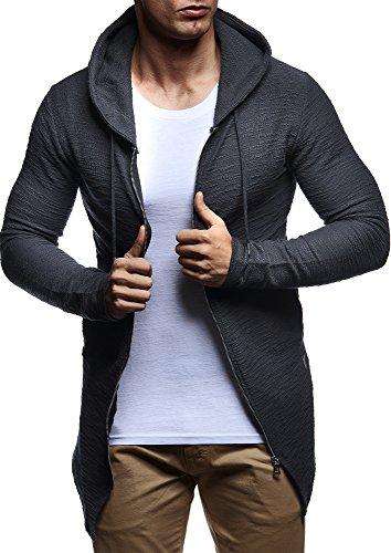 LEIF-NELSON-Herren-Pullover-Kapuzenpullover-Hoodie-Sweatjacke-Jacke-Basic-Langarm-oversize-Shirt-Sweater-LN6301