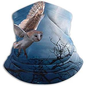 Merle House Flying Owl Am Nachthimmel Abbildung Tiere Unisex Winter Nackenwärmer Gamaschen Haarband Kaltes Wetter Gesichtsmaske Thermischer Nackenschal