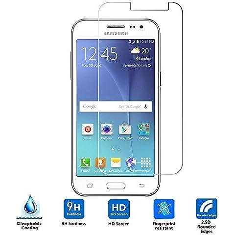 Samsung Galaxy J3 Cristal Templado,Vikoo 9H 2.5D 0.26m Ultra Delgado Shatterproof Protector de pantalla de Vidrio Templado HD Flim Tempered Glass Screen Protector para Samsung Galaxy J3