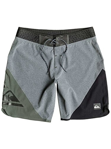 "Short de Bain New Wave High 19"" Tarmac - Quiksilver Gris"