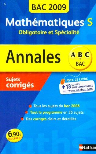 ANNAL 09 ABC SUJ COR MATHS S