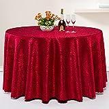 CYALZ Rojo Mantel de tela de tela de patrón suave Moderno Simple de moda Salón de lujo Cocina Restaurante Hotel Home Textiles (Este producto sólo vende Manteles) Diámetro 260cm
