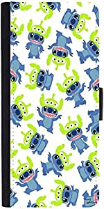 Snoogg Alien Blue Cartoon Cute Designer Protective Phone Flip Case Cover For Lenovo Vibe X2