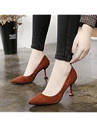 Xue Qiqi fendue pour chaussures femme simple amende avec wild, chaussures à talons hauts, 36, noir