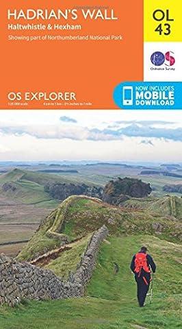 OS Explorer OL43 Hadrian's Wall (OS Explorer Map)