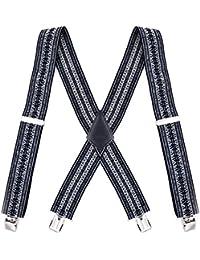fe185c312b04d TOPSTORE01 Homme Bretelles 4 Clips X Grande Forme Pantalon Jean Élastique  Ajustement Brace Largeur 5cm Classique