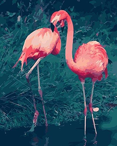 Vogel Leinwand Kunst (DIY Digital Leinwand-Ölgemälde Geschenk für Erwachsene Kinder Malen Nach Zahlen Kits Home Haus Dekor - RedBirds 40*50 cm)