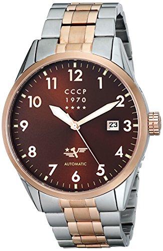 CCCP Men's CP-7015-22 Golden Soviet Submarine Analog Display Automatic Self Wind Silver Watch