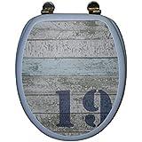 Frandis 191443 Abattant WC Décoration Côte Ouest Charnière Métal 43,8 x 37,8 cm