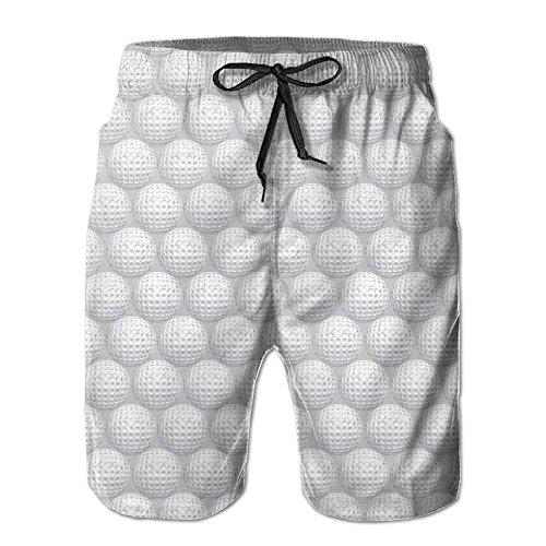 khgkhgfkgfk Golf Ball Men's Summer Beach Quick-Dry Surf Swim Trunks Boardshorts Cargo Pants Small