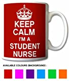 Keep Calm I'm A Student Nurse Mug Cup Gift Retro (Purple)