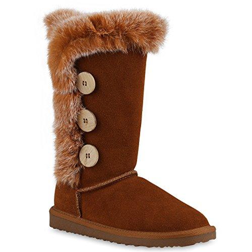 Damen Stiefeletten Leder Schlupfstiefel Boots Kostüm skostüm Indianer Fransen Squaw Pocahontas Schuhe 128713 Hellbraun Knöpfe 39 | Flandell®