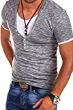 MT Styles 2in1 T-Shirt Polo BS-541 [Grau, L]