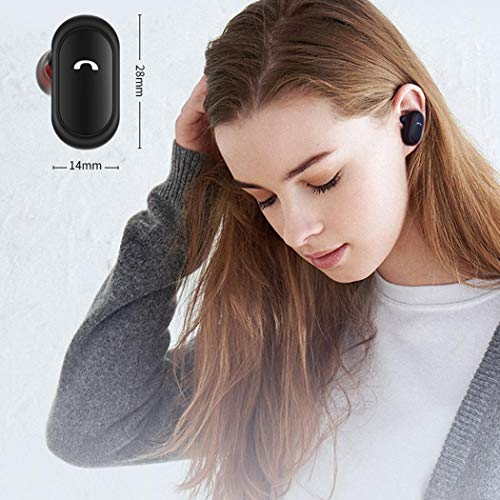 Cuffie senza fili Bluetooth con custodia ricarica