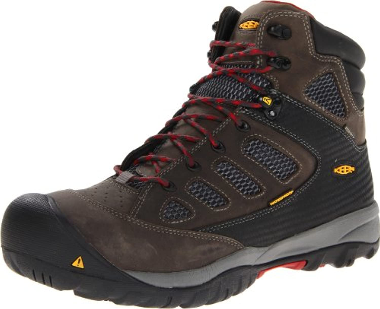 Keen Utility Men's Tucson Mid Work Boot Magnet/Chili Pepper  10.5 D US