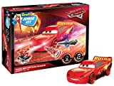 Revell Junior Kit 00864 Lightning McQueen Crazy 8 Race aus Disney Cars 3, mit Licht & Motorengeräuschen 4 Bauen-Schrauben-Spielen für Kinder ab 4, schlammig-rot, 20,7 cm
