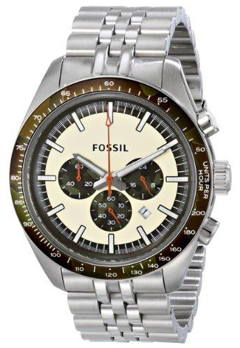 Fossil CH2913 – Reloj con correa de poliuretano para hombre, color blanco / gris