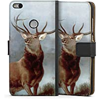 Huawei P9 Lite (2017) Tasche Hülle Flip Case Hirsch Deer Wald