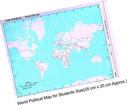 IMPRINT The World Political Practice Map (A4 Size) - Set of 100