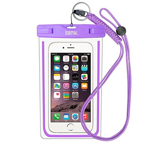 EOTW IPX8 Wasserdichte Tasche, Wasser- und staubdichte Hülle für Geld, Datenträger und Smartphones bis 16,51 cm (6,5 Zoll), Ideal für den Strand, Wassersport, fürs Radfahren, Angeln, usw Purple