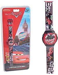 Reloj digital para niños, diseño de Cars, producto oficial Disney, ideal para regalo