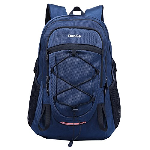 Zaino da trekking sport all'aperto laptop scuola viaggi arrampicata campeggio grande capacità zaino impermeabile casuale daypack moda oxford pacco pack per uomini donne studenti, blu