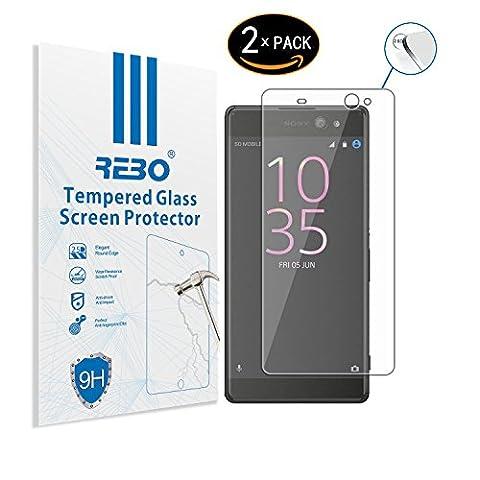 Sony Xperia XA Ultra verre trempé Protecteur d'écran - RE3O® 2 x Protecteur d'écran verre trempé pour Sony Xperia XA Ultra 6,0'' pouces, Facile à appliquer sans bulles d'air, Bord rond élégant 2,5D, Dureté 9H, Haute