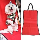 Funda universal 2 en 1 para asiento trasero de coche, impermeable, protector para mascotas, alfombrilla para maletero