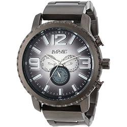 August Steiner Herren Multifunktions-Farbverlauf Zifferblatt Quarz Armband Armbanduhr