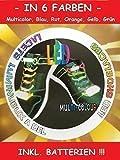 DRULINE LED Schnürsenkel Leucht Schnürsenkel Fasching Schuhband Party Disco 6 Farben