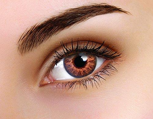 FLASH GLAM HONEY 90 Tage Kontaktlinsen braun honig Linsen ohne stärke halloween kostüme fastnacht