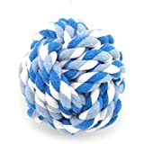 SMALLLEE_LUCKY_STORE XCW0022-S Pet Rope Ball Chew Toy For Puppy And Cat, Multicolor, X-Small