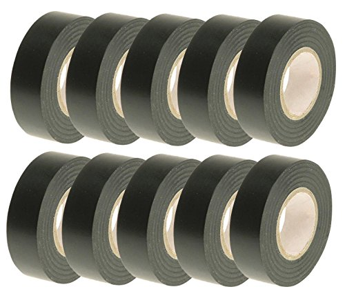 Preisvergleich Produktbild Car Alarm Ice Audio Radio Fitting Cable 10x Pvc Black Insulation Tapes Top Grade