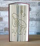 gefaltetes Buch - Bongo Drums // Buchkunst // Bookfolding // Buchfalten // Book Art // Dekoration // Geschenk // Musik // Musikliebhaber