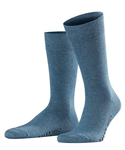 FALKE Herren Family M SO Casual Socken, Blau (Light Denim 6660), 43-46