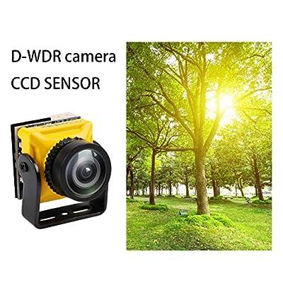 HankerMall Caddx Mini FPV Camera Turbo Micro S2 4:3 600TVL Turbo Eye 1.8mm Lens PAL CCD Sensor Fly OSD DC 5-40V for FPV Quadcopter Racing Drone