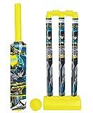 Zitto Batman Senior Cricket Set with 1 Plastic Bat and Ball, 3 Wickets, Base and Bail