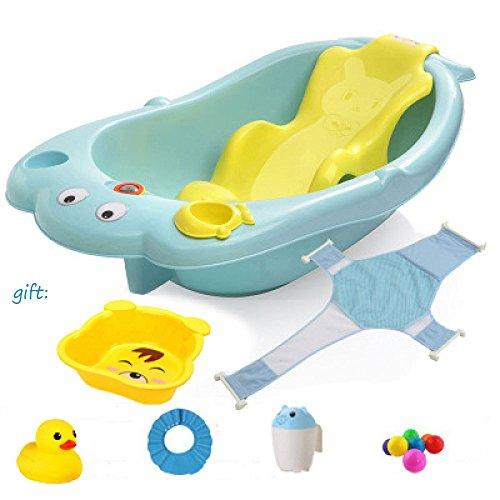 Elegant Baby Bad Kind Newborn Badeeimer Kann Liegen Große Kind Shampoo Stuhl,B (Baby-bad-spielzeug Elegante)