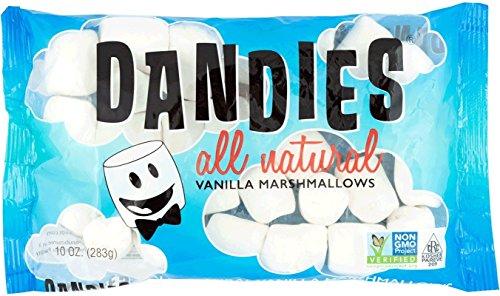 Dandies - Vegan Marshmallows, Vanilla, 10 Ounce (Pack of 2)