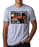Army | War | Fire in The Hole | Guns | Soldier | World War | Killing | AK47 | Gas Mask | Simple | Shape Herren T-Shirt Large