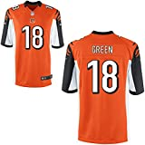 18 Green A.J. Trikot Cincinnati Bengals Jersey American Football Shirt Youth Orange Size M