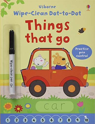 Wipe-Clean Dot-to-Dot: Things That Go (Wipe-clean Books)