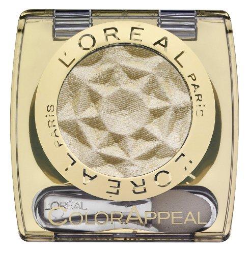 L'Oréal Paris Color Appeal Eyeshadow, 21 Golden Beige, Mono Lidschatten mit extra weicher Textur und langem Halt - 1er Pack (1 x 3,5g)