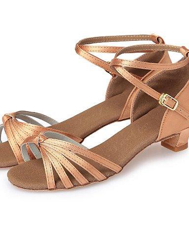 La mode moderne pour enfants personnalisables Non Sandales Chaussures de danse latine Satin Satin talons Talon Indoor noir/bleu/marron L10 L12 L27 L28 Nude