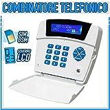 COMBINATORE TELEFONICO GSM ALLARME TELEFONO CASA ANTIFURTO CELLULARE SMS CHIAMATA SIM DIALER LCD UNIVERSALE