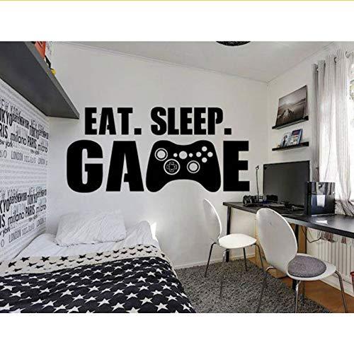 Lvabc Große Größe Gamer Wandtattoo Essen Schlaf Spiel Controller Video Spiel Wandaufkleber Für Kinder Teen Schlafzimmer Vinyl Wandkunst Deco 89X42 Cm