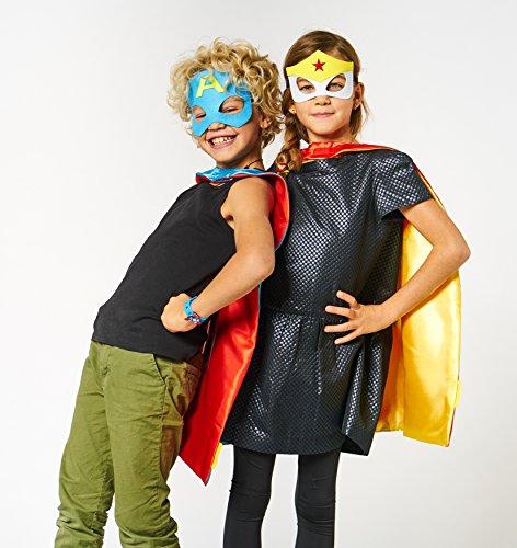 Imagen de laegendary disfraces de superhéroes para niños  regalos de cumpleaños para niños  4 capas y máscaras  logo brillante de capitán américa  juguetes para niños y niñas alternativa
