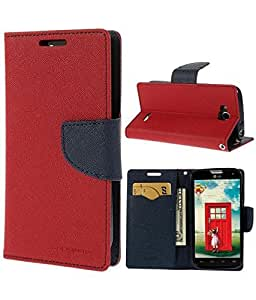 "Micromax Bolt Q338(Red) All Sides Protection ""360 Degree"" Sleek Rubberised Matte Hard Flip Cover By Zauky"