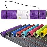 Body & Mind Yogamatte - umweltfreundliche, hypo-allergene Yoga TPE-Matte - extrem rutschfest, weich und...