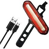 Awnic Luz Trasera Bicicleta Luz LED Bici USB Recargable 16 COB LED Rojo Hasta 11h 4 Modos Función de Memoria Impermeable Adecuado Para Casco y Bici, etc
